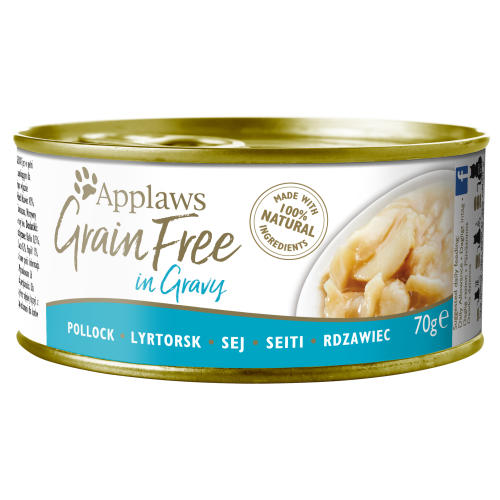 Applaws Pollock in Gravy Grain Free Wet Adult Cat Food