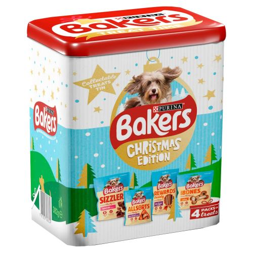 Bakers Christmas Treat Tin for Dogs