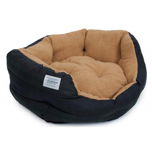 Barbour Wax Dog Bed in Blackwatch Tartan