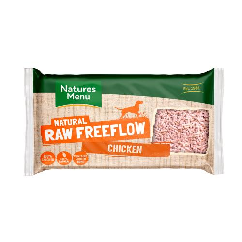 Natures Menu Free Flow Chicken Raw Frozen Dog Food
