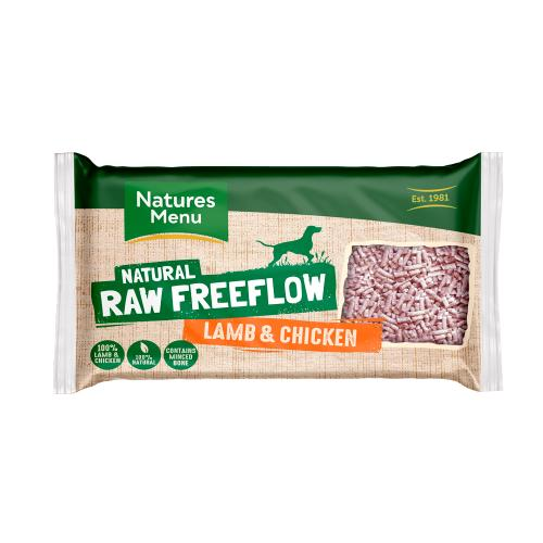 Natures Menu Free Flow Lamb & Chicken Raw Frozen Dog Food