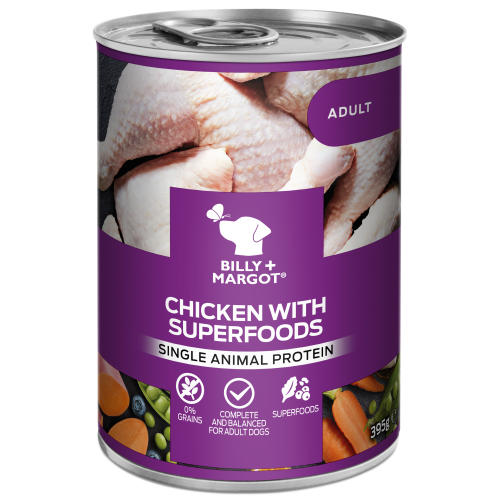 Billy & Margot Chicken with Superfoods Wet Adult Dog Food Tins