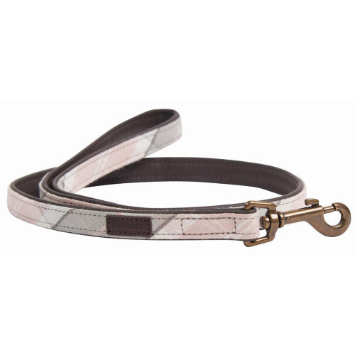 Barbour Tartan Dog Lead in Pink