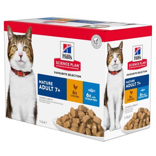 Hills Science Plan Mature 7+ Pouches Wet Cat Food