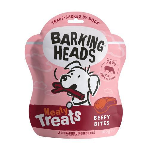 Barking Heads Meaty Treats Beefy Bites Adult Dog Treats