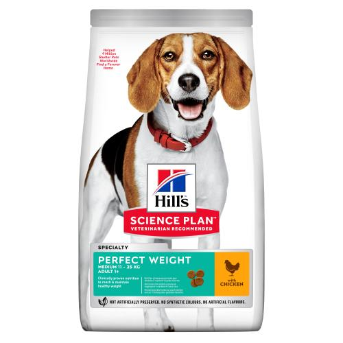 Hills Science Plan Adult Perfect Weight Medium Dry Dog Food Chicken Flavour