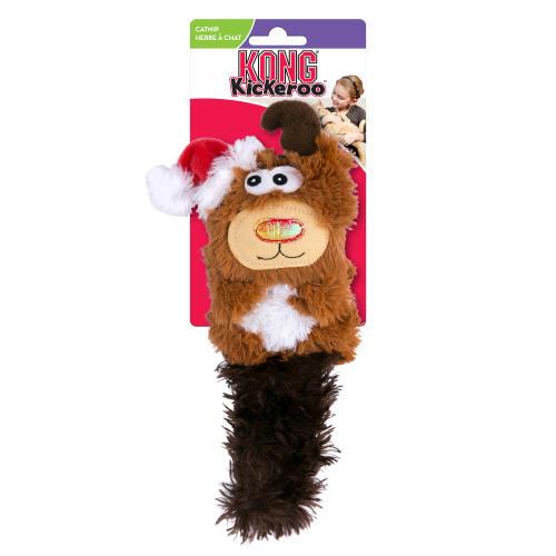 Kong Christmas Kickeroo Reindeer Catnip Cat Toy