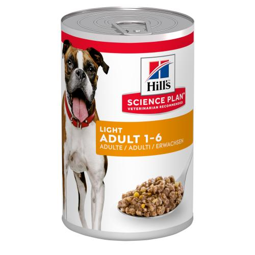 Hills Science Plan Adult Light Wet Dog Food Chicken Cans