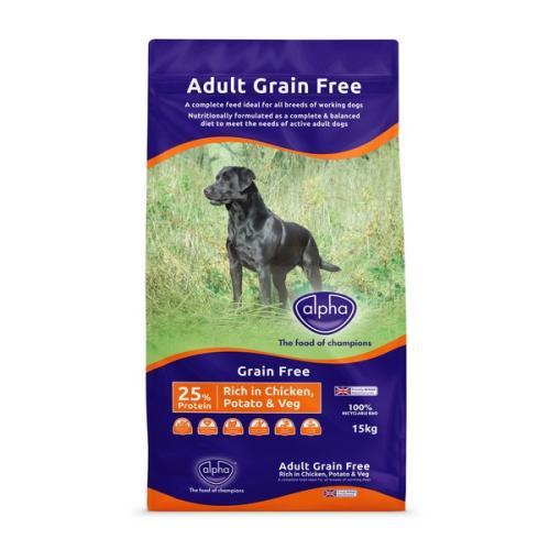 Alpha Grain Free Working Dog Chicken Dry Adult Dog Food