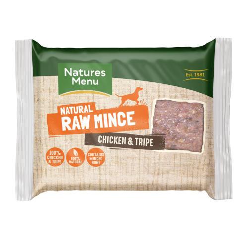 Natures Menu Minced Chicken & Tripe Raw Frozen Dog Food