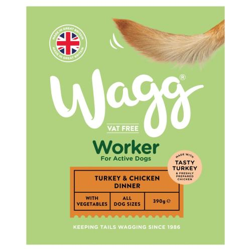Wagg Worker Turkey & Chicken Wet Dog Food