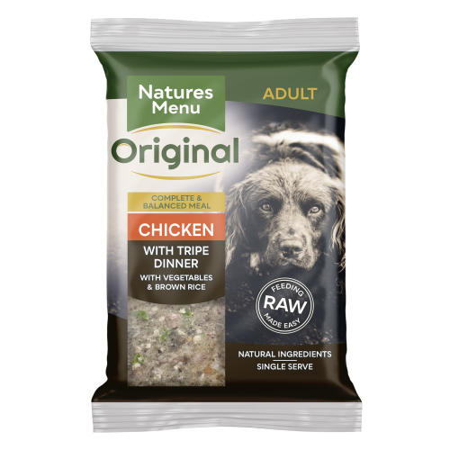 Natures Menu Complete Chicken & Tripe Raw Frozen Mince Dog Food