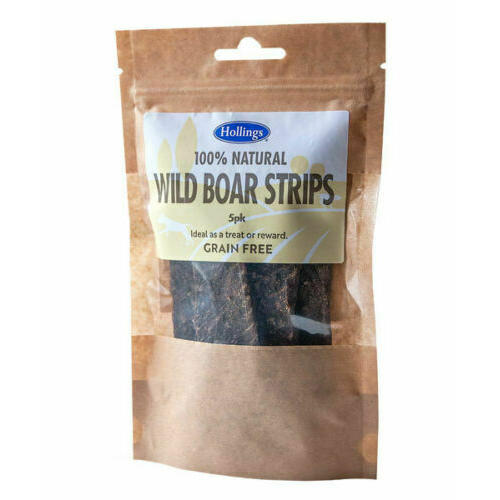 Hollings 100% Natural Wild Boar Strip Dog Treats