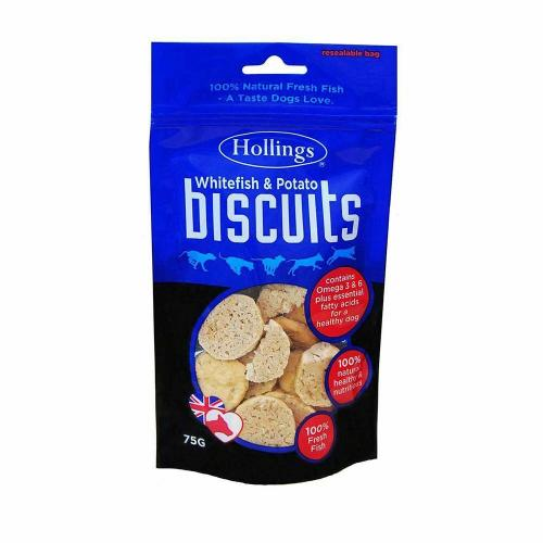 Hollings White Fish and Potato Biscuit Dog Treats