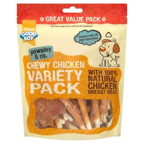 Good Boy Pawsley Chewy Chicken Variety Pack Dog Treat