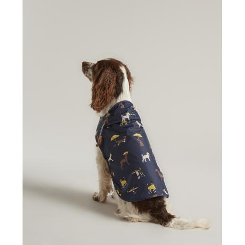 Joules Water-resistant Dog Raincoat in Navy