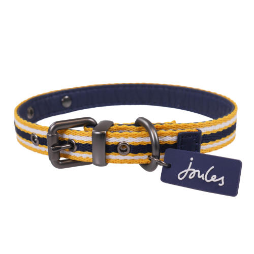 Joules Navy Coastal Dog Collar