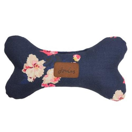 Joules Floral Plush Bone Dog Toy