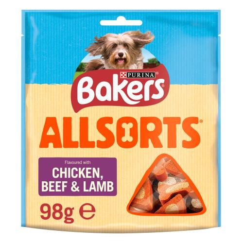 Bakers Allsorts Chicken & Beef Dog Treats
