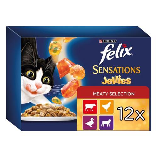 Felix Meaty Sensations in Jelly Pouch Cat Food