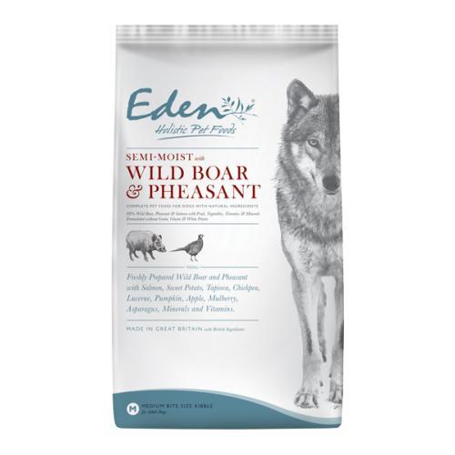 Eden Semi Moist Salmon with Wild Boar & Pheasant Adult Dog Food