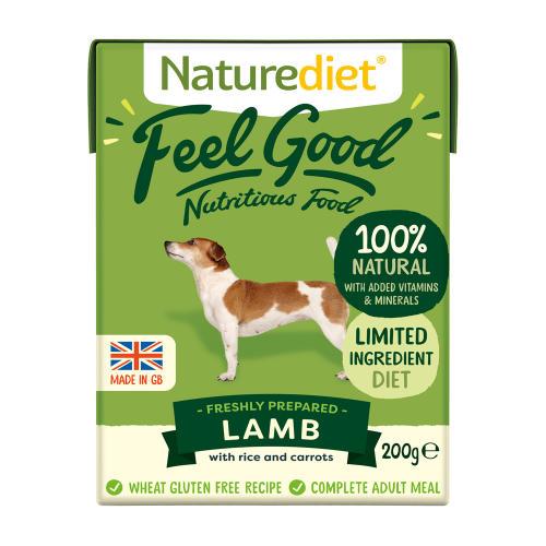 Naturediet Feel Good Lamb Wet Adult Dog Food Cartons