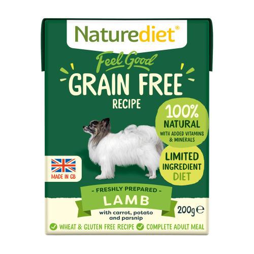 Naturediet Feel Good Grain Free Lamb Wet Adult Dog Food Cartons