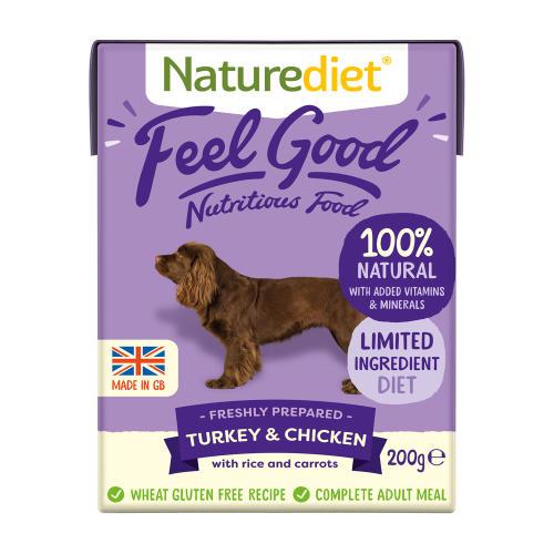 Naturediet Feel Good Turkey & Chicken Wet Adult Dog Food Cartons