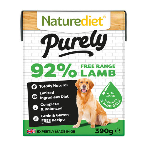 Naturediet Purely Free-range Lamb Wet Adult Dog Food Cartons
