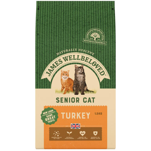 James Wellbeloved Turkey Senior Cat Food