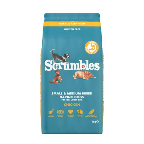 Scrumbles Chicken Adult & Senior Small & Medium Breed Dry Dog Food