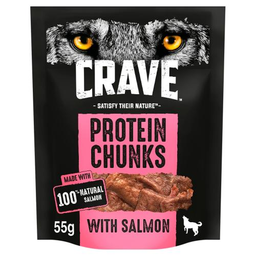 Crave Protein Chunks Natural Salmon Dog Treats
