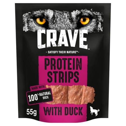 Crave Protein Strips Natural Duck Dog Treats