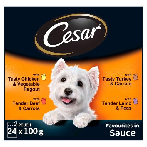 Cesar Pouch Deliciously Fresh Favourites in Sauce Adult Dog Food