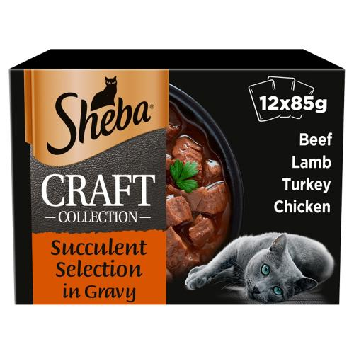 Sheba Craft Collection Succulent Selection in Gravy Adult Cat Food
