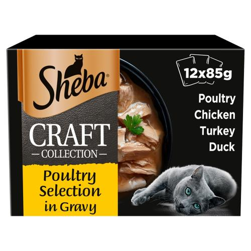 Sheba Craft Collection Poultry Selection in Gravy Adult Cat Food