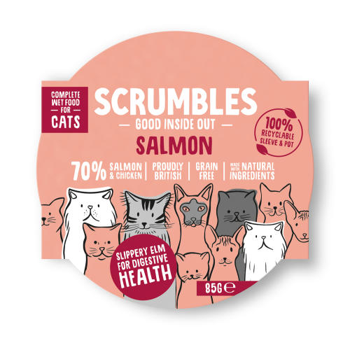 Scrumbles Grain Free Salmon Wet Adult Cat Food