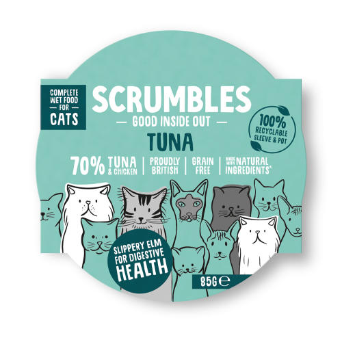 Scrumbles Grain Free Tuna Wet Adult Cat Food