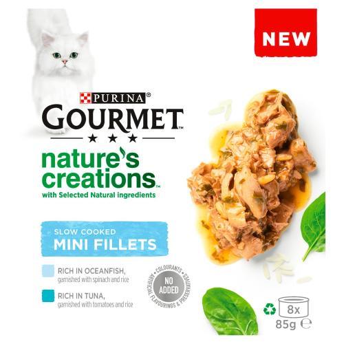 Gourmet Natures Creations Fish Mini Fillets Wet Adult Cat Food