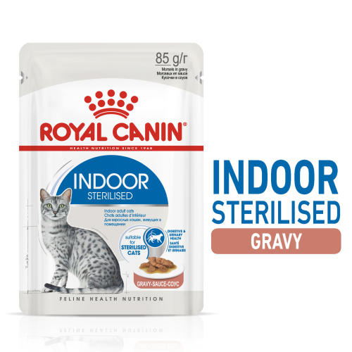 Royal Canin Indoor Sterilised In Gravy Wet Adult Cat Food