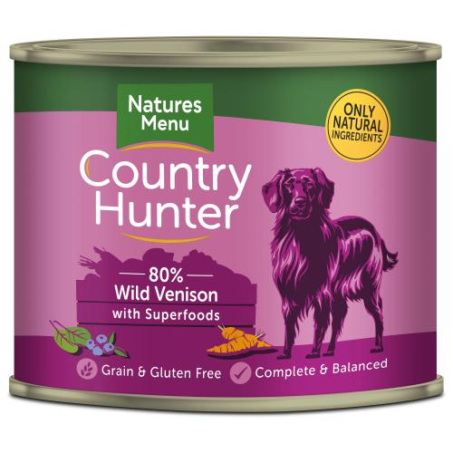 Natures Menu Country Hunter Venison Adult Dog Food Cans