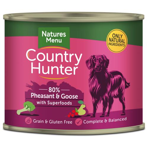 Natures Menu Country Hunter Pheasant & Goose Adult Dog Food Cans