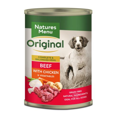 Natures Menu Beef & Chicken with Veg Adult Dog Food Cans