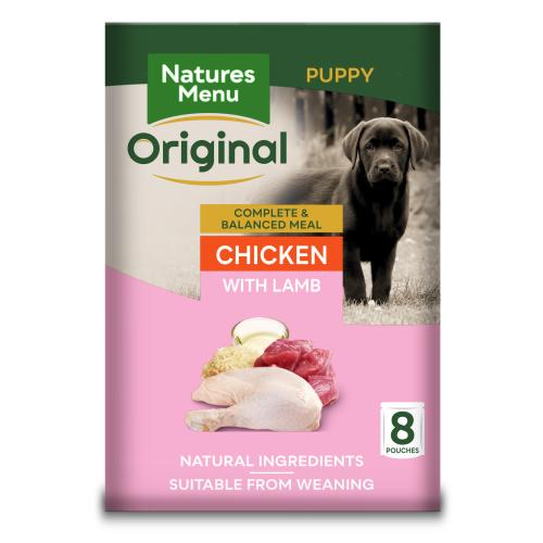Natures Menu Chicken Lamb & Rice Puppy Food Pouches