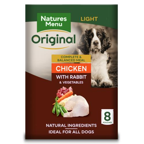 Natures Menu Light Chicken & Rabbit Adult Dog Food Pouches