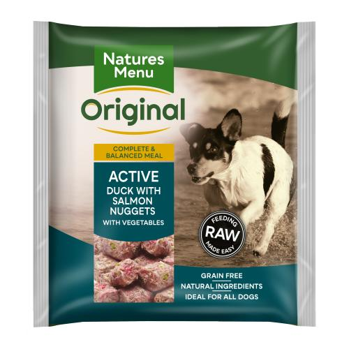 Natures Menu Complete Active Nuggets Raw Frozen Dog Food