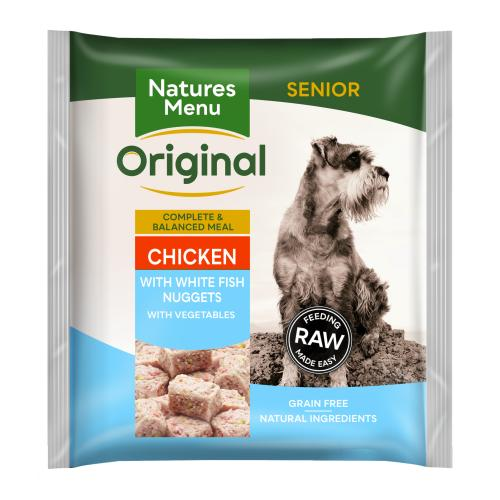 Natures Menu Complete Senior Nuggets Raw Frozen Dog Food