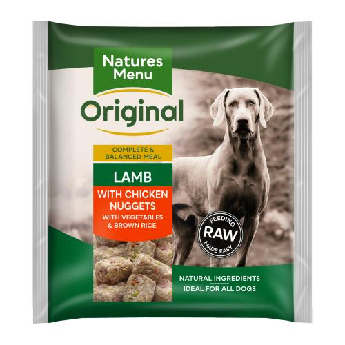 Natures Menu Complete Lamb Nuggets Raw Frozen Dog Food