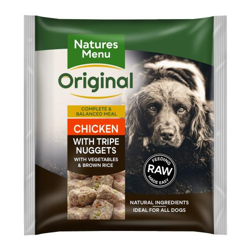 Natures Menu Complete Chicken & Tripe Nuggets Raw Frozen Dog Food