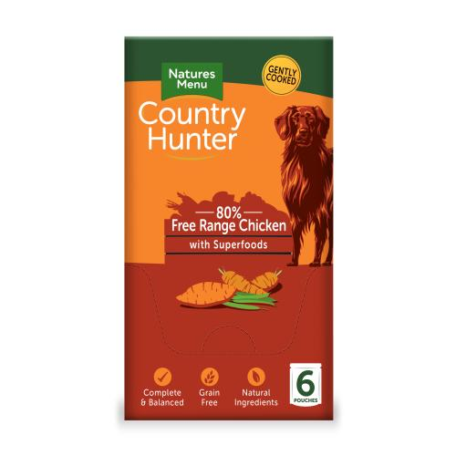 Natures Menu Country Hunter Chicken Pouch Adult Dog Food